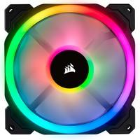 Projetada para quem procura um excelente fluxo de ar, operação silenciosa e iluminação poderosa, a ventoinha CORSAIR LL140 RGB coloca o seu PC de volt