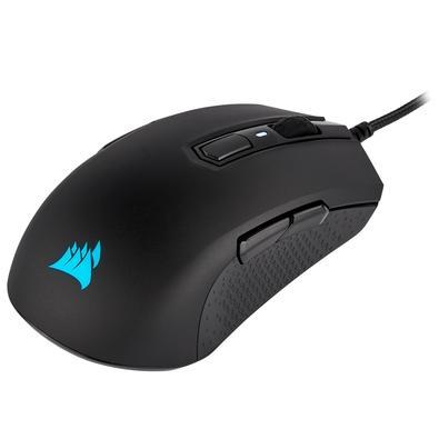 O Mouse gamer CORSAIR M55 RGB PRO oferece uma versatilidade campeã para jogos, com um design ambidestro que se encaixa em qualquer mão, ideal para tod