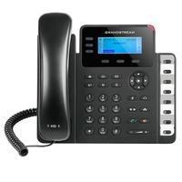 O GXP1630 é um avançado telefone IP para pequenas e médias empresas (PMEs). Esse modelo baseado em Linux inclui 3 linhas, 3 teclas com programação XML