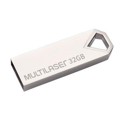 Pen Drive Multilaser Diamond, leve para qualquer lugar! Desenvolvido com tamanho reduzido, esse pen drive se torna um acessório de fácil transporte. P