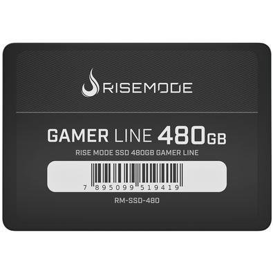 SSD Rise Mode Gamer Line 480GB, SATA, Leitura 535MB/s, Gravação 435MB/s - RM-SSD-480