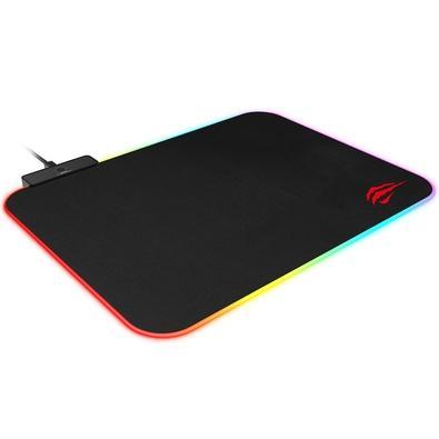 Um clique para para mudar o efeito de iluminação, 10 modos de iluminação RGB. Superfície com tecido premium de malha fina.