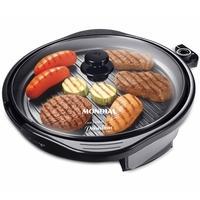 Grill Redondo Mondial. Eficiente, ele é 2 em 1, prepara arroz, risotos, legumes e verduras, grelhados e assados diversos e pode ser levado diretamente