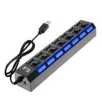 HUB F3, USB 2.0, 7 Portas Chaveadas - JC-HUB701
