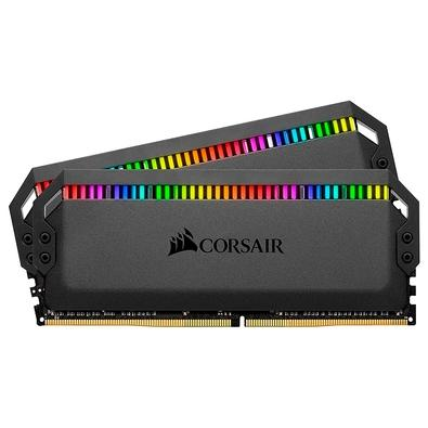 A Memória CORSAIR DOMINATOR® PLATINUM RGB DDR4 otimizada para placas-mãe Intel® redefine o que é uma memória DDR4 premium, com design icônico atempora