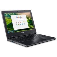 Chromebook Acer com Processador AMD A-Series A4-9120C, Teclado com teclas ancoradas mecanicamente. Touchpad resistente à umidade. Tela Conversível e T