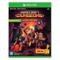 Minecraft Dungeons, Hero Edition, Xbox One O Hero Pass inclui uma capa de herói, duas skins de jogador e uma galinha de estimação. Ele também inclui d
