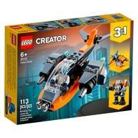 Ponha as crianças encenando aventuras repletas de ação com este sensacional conjunto de brinquedo LEGO® Creator 3 em 1 Ciberdrone (31111). Traz 2 prop