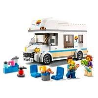 Os meninos e meninas podem viajar para onde sua imaginação os levar com este conjunto LEGO City Trailer de Férias (60283). O brinquedo trailer vem rep