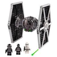 As crianças podem brincar de vilões da trilogia clássica Star Wars com esta espetacular versão em peças LEGO do Imperial TIE Fighter (75300). Com o de