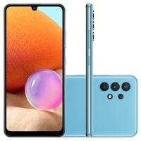 Smartphone Samsung Galaxy A32 128GB - Azul  Tela incrível, rolagem realmente suave Encante-se com detalhes vibrantes no display full HD+ Super AMOLED