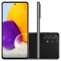 Smartphone Samsung Galaxy A72 128GB - Preto  Tela absurda com rolagem suave O Display Infinito full HD+ Super AMOLED de 6.7 polegadas alcança 800 nit