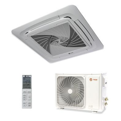 O ar split cassete Trane conta com a tecnologia Inverter que economiza até 60% de energia. Ele deixa o ar mais limpo graças ao seu filtro anti-bactéri