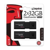 O pendrive USB DataTraveler® 100 G3 (DT100G3) da Kingston é compatível com as especificações para USB 3.01 de última geração para beneficiar-se da tec