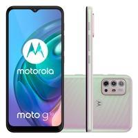 Smartphone Motorola Moto G10, 64GB, RAM 4GB, Octa-Core, Câmera Quádrupla, 5000mAh, Branco Floral - PAMM0019BR.