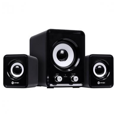 As caixas de som 2.1 Standard Way da Vinik é perfeita para quem não abre mão de um som ambiente enquanto trabalha ou estuda. A caixas de som Standard
