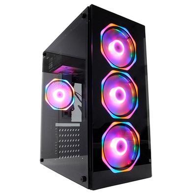 PC Gamer Concórdia Glass Intel Core i3-9100F, 8GB DDR4, SSD 120GB, HD 1TB RX 550 4GB, Fonte 500W, Linux - 40552.