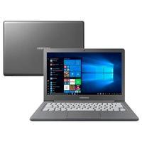 Notebook Samsung Intel Celeron N4000, 4GB, 64GB SSD, Tela de 13.3 Full HD, Windows 10 PRO, Grafite.