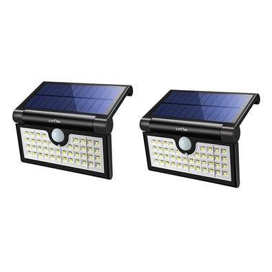 Conjunto 2 Luminárias Litom com 42 LEDs, Portátil com Energia Solar e Sensor de Movimento - X001-W1RY79.