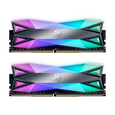 Memória XPG Spectrix D60G A memória XPG SPECTRIX D60G DDR4 possui em seu design uma exclusiva faixa de luz RGB dupla que oferece a maior área de super
