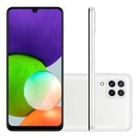 Smartphone Samsung Galaxy A22 128GB - Branco  Tela incrível, rolagem realmente suave  Expanda sua visão para o Infinity-U Display de 6,4 polegadas n