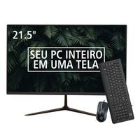 Compacto e elegante! O All In One Brazil PC é equipado de maneira a atender às necessidades de cada usuário. As linhas base fixa, base giratória e cur