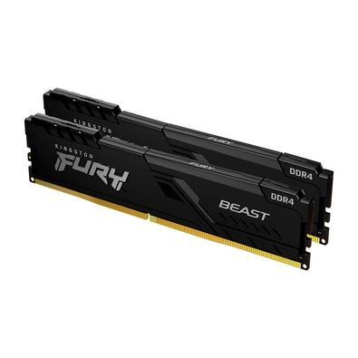 Memória Kingston Fury Beast A memória Kingston FURY Beast DDR4 proporciona um poderoso aumento de performance para jogos, edição de vídeo e renderizaç