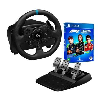 Volante Logitech G923 para PS5, PS4 e PC  O Logitech G923 é um volante de alto desempenho para corridas que revoluciona a experiência nos jogos para