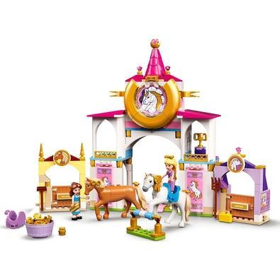 LEGO Disney Princess - Estábulos Reais de Bela e Rapunzel Surpreenda qualquer fã de Princesas da Disney que também adora cavalos com este conjunto de
