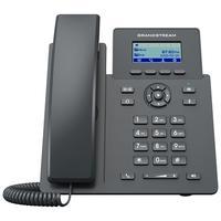 Telefone IP Grandstream, 2 Linhas, Visor LCD, Preto  Parte da série GRP de telefone IP para operadoras, o GRP2601 é um modelo básico com 2 linhas pro
