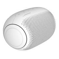 LG XBOOM Go PL2 Branco Um novo visual para um som balanceado. Simplesmente elegante O design compacto com acabamento emborrachado é moderno, confortáv