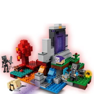 LEGO Minecraft - O Portal em Ruínas LEGO® Minecraft™ O Portal em Ruínas (21172) leva a paixão do jogador de Minecraft pelo jogo para outra dimensão. A