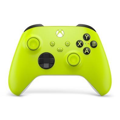 Experimente o design moderno do controle sem fio Xbox Electric Volt com superfícies esculpidas e geometria refinada para melhorar o conforto durante o