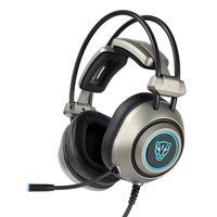 Headset Motospeed H19 USB LED 7.1 Driver 50mm Cinza Esse é o fone ideal para quem busca conforto sem perder qualidade auditiva em sua gameplay! Projet