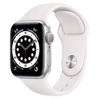 Apple Watch SE 44MM GPS com Case de Alumínio Silver e Sport Band White  O Apple Watch SE tem o mesmo tamanho de tela Retina do Series 6 para mostrar