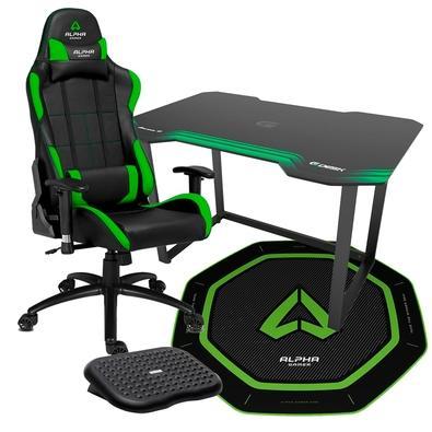 Cadeira Gamer Alpha Gamer Vega  As cadeiras gaming Alpha Gamer Vega incluem duas almofadas: para apoio lombar e também para apoio da cabeça. Caso pre