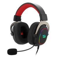 Headset Gamer Redragon Zeus X, USB, RGB Chroma Mk.II, Surround 7.1, Drivers 53mm, Preto/Vermelho  Recursos: • Iluminação RGB Redragon Chroma Mk.II co