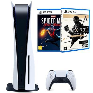 Console Sony Playstation 5  - ATENÇÃO - Este é um produto em Pré-Venda -  Jogar Não Tem Limites Desfrute do carregamento extremamente rápido com o S