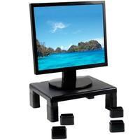 Ideal para um posicionamento fixo e muito mais confortável de seu monitor em cima da mesa. Ajuda a prevenir posições erradas em frente ao computador.