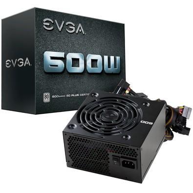 Fonte EVGA 600W 80 Plus 100-W1-0600-K