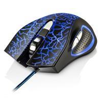 Mouse Gamer Multilaser 2400DPI 6 Botões Preto com LED - MO250