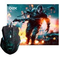 Combo com mouse e mousepad ideal para otimizar sua experiência com games!
