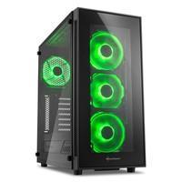 Gabinete Sharkoon TG5 Green ATX