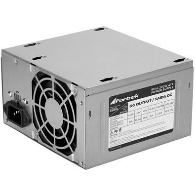 Fonte de energia para computadores ATX 20+4 Pinos 200W Reais com picos de potência de até 450W (máximo).