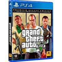 GTA V Premium Online Edition PS4 GRAND THEFT AUTO V! Entre nas vidas de três criminosos muito diferentes, Michael, Franklin e Trevor, enquanto eles ar