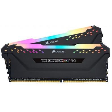 Memória Corsair Vengeance RGB Pro, 16GB (2x8GB), 2666MHz, DDR4, CL16, Preto - CMW16GX4M2A2666CL16