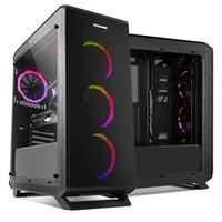 Compatível com sistemas ATX, Micro ATX ou Mini ITX. Suporta instalação de sistemas de refrigeração líquida.