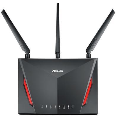 O roteador ASUS RT-AC86U é a melhor escolha para jogos, com velocidades Wi-fi de até 2971 Mbps, tecnologia MU-MIMO e recursos incríveis que garantem m