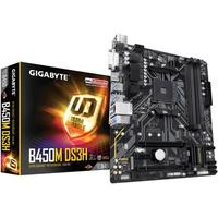 Placa-Mãe Gigabyte B450M DS3H, AMD, mATX, DDR4.
