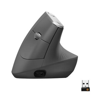 O MX Vertical é um mouse ergonômico avançado que combina design criado de forma científica com desempenho elevado da série MX da Logitech. A posição n